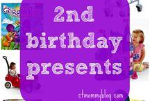 2nd Birthday present ideas