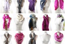 Types to tie a scarf