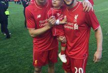Two great lads: Gerrard and Lallana / Liverpool FC, Steven Gerrard