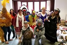 Corporate Volunteers lending a hand / Some fabulous volunteers have been helping our retail team sort out donated fancy dress costumes. Looks like they've been having fun! If you want to get involved in corporate volunteering get in touch! http://bit.ly/XCLXUG