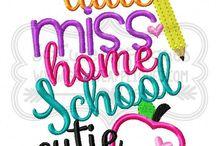 homeschool embroidery designs