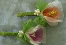 organza-szatén virágok