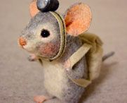 needle felted mouse, rat