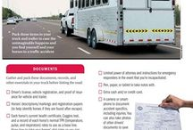 On the Road Again / Tips and information about trailering and transporting horses safely.