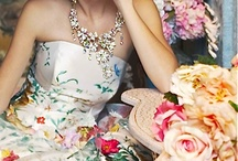 Flowery romantic gown