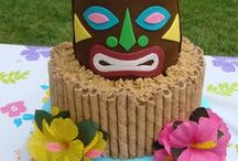 Tiki luau / Adie birthday party