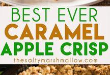 Apple Crisp with Carmels