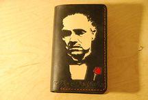 Don Corleone bifold wallet, Marlon Brando leather wallet ,custom.personalized