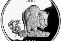 Animal coins, plaquettes
