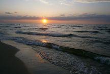 zachód Słońca / zachodzące Słońce nad Zatoką Gdańską