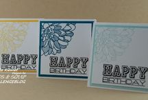 Stampin UP Regarding Dahlias.