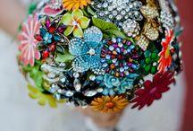 Multi coloured wedding theme