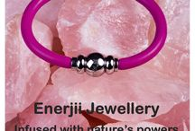 Enerjii Jewellery - natural energy infused / Our new range of beautiful jewellery for men and women - fashion with health benefits.