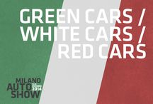 Green, White and Red Cars / Automobili verdi, bianche e rosse