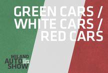 Green, White and Red Cars / Automobili verdi, bianche e rosse