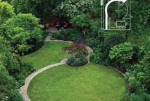 Fiona and Rob / Division of a long garden into three areas