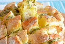 gevulde brood: kaas&kruidenboter
