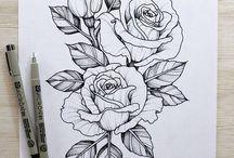Розы тату