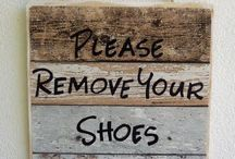 No Shoes Sign: Signs to Remove Shoe at door