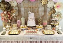 Table & Candy-bar  ideas / paper flowers  decor