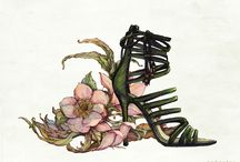Fashion, flowers and patterns / My illustrations with the theme of fashion, nature and print