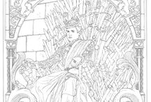 Coloring pages Game of Thrones