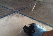 Concrete staining