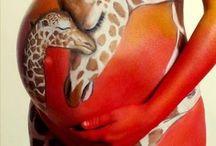 En attendant bébé - Belly Painting