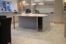 Kitchen diner floor tiles