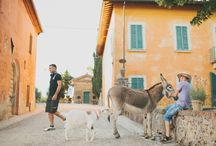 Vintage Style Farm Wedding in Tuscany by Weddings International / A wedding in a farm in the heart of Tuscany. A feast for the eyes!