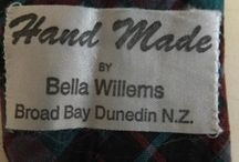 Kiwiana Special Labels / Interesting labels on the tab of neckties