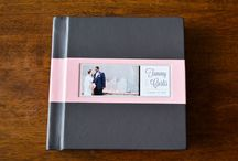 """Yours Truly Wedding Album - Curtis and Tammy / We shipped another beautiful wedding album to another beautiful couple!  Tammy and Curtis chose a """"You-nique"""" cover style which featured two colors of genuine leather. It displayed a recessed photo with an artistic representation of the bride and the groom's names and the wedding date. The gilding of the page edges is also a highly specialized art-form with a golden finished look.  Click here to get information: http://www.yourstrulyweddingalbums.com/albums/"""