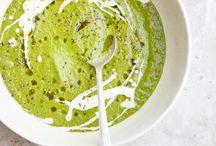 Recettes / Potage tomates vertes et autres légumes verts.