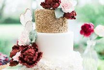 paleta dorada para boda de invierno / #paleta #dorada con #rojo #marsala #rosadopalido
