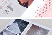 CONTEMPORARY PRINT / Examples of contemporary layout, branding and graphic font use in print publications.