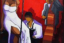 Chanteuse Jazz robe blanche
