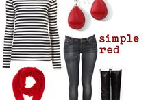 Simple red / Red accessories