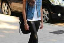 casual leather pants