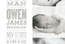 Baby / Geboortekaartje