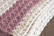 Chunky crochet throw