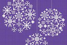 Lace cross stitch