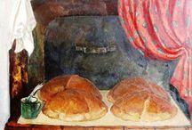 хлеб в живописи / чаепитие