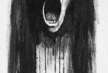 creepy dark drawing