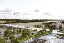 Le pont J.J. Bosc et la grande salle de spectacles / Les projets retenus pour la construction du futur pont Jean-Jacques Bosc et la grande salle de spectacles