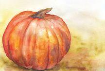 fall watercolour
