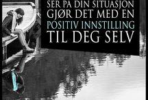 Motivasjonssitater / Motiverende sitater skrevet på norsk