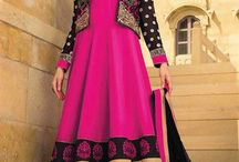 Long Floor Length Anarkali Dresses / Style up your looks in season's hottest collection of long floor length designer party wear semi-stitched anarkali dress materials. Pick your one now from http://www.mishreesaree.com/Online/New-Arrivals/Latest-Salwar-Kameez