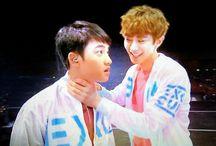 EXO / Fandom name: EXO-L Fandom color:  Debut: 08.04.2012 Label: SM Ent. Members: 1) Lay / Zhang Yixing 2) Byun Baekhyun 3) Park Chanyeol 4) Suho / Kim Joonmyun 5) Oh Sehun 6) Do Kyungsoo 7) Kai / Kim Jongin 8) Chen / Kim Jongdae 9) Xiumin/ Kim Minseok Ex members: 1) Kris Wu / Wu YiFan 2) Tao / Huang Zi Tao 3) LuHan