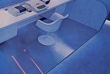 70's 80's Retrofuturist interiors