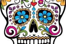 Sugar skulls day of the dead / by VERONICA AMAYA